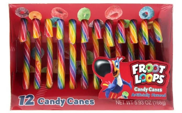 Kellogg's Froot Loops Candy Canes